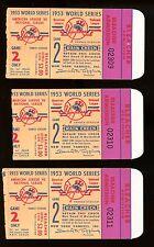 (3) 1953 World Series MICKEY MANTLE Ticket Stubs GW Blast Bottom 8th GREAT SHAPE