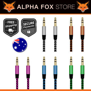 AUX Cable Male to Male 3.5mm Jack Audio Cable AUX Cord Braided Gold Plated - AUS