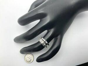 14K White/Yellow Gold 0.20+ CTW Diamond Wedding Ring Set, Size 5.5, 3.7 Grams
