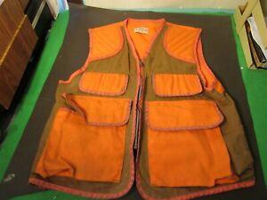 Vintage SafTBak Canvas Tan Blaze Orange Hunting Shooting Jacket
