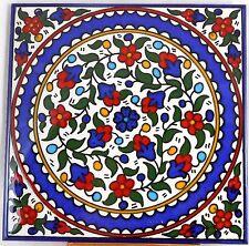 Armenian Red Flowers Handmade Painted Tile Wall Hanging Decor Ceramic Iznik 4 1
