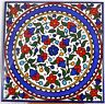 Armenian Red Flowers Handmade painted tile wall hanging decor ceramic Iznik 4+1