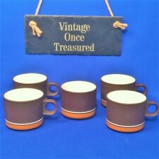 Hornsea Contour 4 x Coffee or Tea Cups + Sugar Bowl - Vintage 1970s VGC