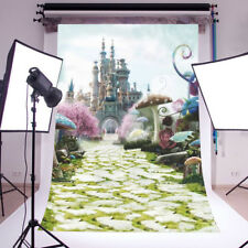 Wonderland Castle Vinyl Photography Backdrop Background Studio Photo Props 3X5FT