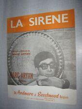 PARTITION MUSICALE BELGE MARC ARYAN LA SIRENE
