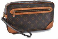 Auth Louis Vuitton Monogram Marly Dragonne Clutch Hand Bag M51825 LV A8051