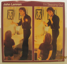 """John Lennon """"I'm Stepping Out"""" 1984 Polydor 45rpm w/ PS NM"""