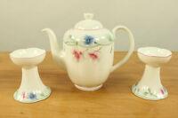 Villeroy & Boch Viola Porzellan Service Kaffee Kanne & 2 Kerzenständer