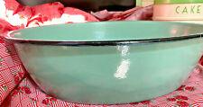 vintage 1930s? large green enamel ware bowl/basin baby bath?