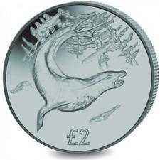 2018 £2 South Georgia Sandwich Is Leopard Seal Grey Titanium Coin 7500 minted