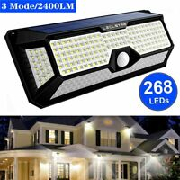 Solar 140/268LED Garden lights  Wall Mount Outdoor Motion Sensor Lamp Waterproof
