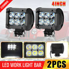 2x 4inch 18W LED Work Light Bar Spot Pods Fog Lamp Offroad Driving Truck SUV ATV