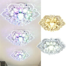 Modern Led Crystal Chandelier Pendant Ceiling Light Fixtures Hallway Lighting