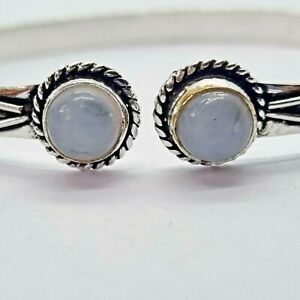 Brand New Silver Plated Moonstone Bracelet - Approx 19cm