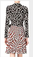 DVF T72 SILK WRAP DRESS SIZE 0, 2