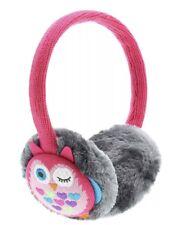 KitSound Audio On-Ear Earmuffs Built In Headphones iPod iPad iPhone Pink Owl