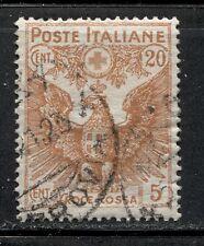 RED CROSS ON ITALY 1915 Scott B3 Very Fine Used