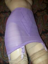 Vintage Purple Usa X-Firm Open Bottom Metal Garter Girdle Lingerie M