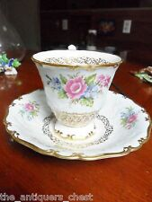 Foley England bone china, cup and saucer, flowers and gold [91]