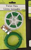 Garden Collection TWIST TIES  NEW  IN PACK 75 FT NEW IN PACK