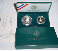1995 Civil War Commemorative 2 Coin Proof Set, by US Mint In Box with COA