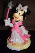 """Minnie Mouse with Wand Rubber Piggy Bank 8"""" tall, from Disneyland Resort Paris"""