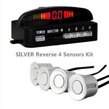 Argent 4 capteurs buzzer display audio alarme voiture inverse parking radar parktronic
