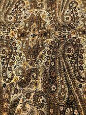 Vintage-echo  paisley  Mens Wool tuxedo scarf black/gold/fringe