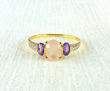 1.92ct Natural Quartz & Amethyst 14k Yellow & White Gold Ring US (12 1/2) AU (Z)