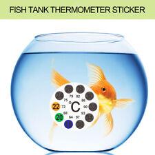 LCD Temperature Measure Thermometer Sticker Fish Tank 50mm Round Indoor Plastic