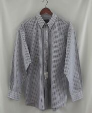 NWT Jos. A. Bank Front Red White Blue Stripe Long Sleeve Button  Shirt Large L