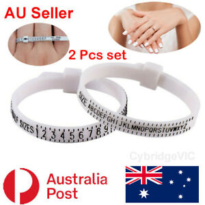 Ring Sizer/Measurement Tool Womens/Mens Finger Sizes A-Z 1-17 Easy AU CA US UK