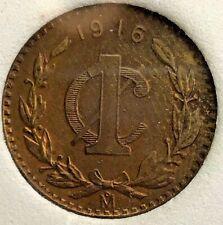 1916 Mexico 1 Centavo AU KM 415 (M653)