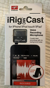 iRig Mic Cast Voice Recording Microphone for iPhone iPad