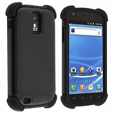 Hybrid Armor Case for Samsung Galaxy S2 T989 (T-Mobile) - Black/Black