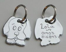 Unbranded Brass Personalised Dog Tags & Charms
