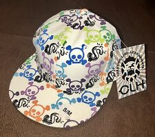 CLH Creating Limitless Heights Hat S/M Fitted Cap Urban Hip Hop Skulls $ White