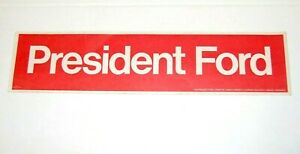 1976 GERALD FORD BUMPER STICKER campaign political pin pinback button president