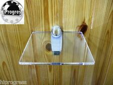 "Wall Clear Plexi-glass Square Shelf Organizer Holder Stand 7.0""X7.0"" XL Bracket"