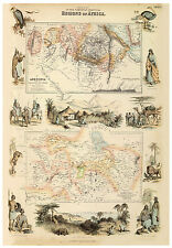 Ethiopia Abyssinia Central Africa Lake Chad illustrated map Fullarton ca.1872
