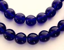25 8 mm Czech Glass Round Beads: Cobalt