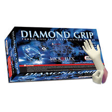 Microflex MF-300M Diamond Grip Powder Free Latex Gloves - Medium, 10 Boxes
