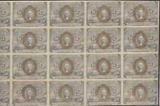 Fr1232 5¢ End Issue Fractional Currency Sheet Of 20; Some Fold Marks Wl4730