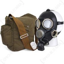 More details for russian gp7v gas mask - black soviet gp-7v halloween costume with bag no filter
