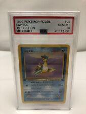 PSA 10 1st Edition Lapras Fossil Non Holo Pokemon 25/62