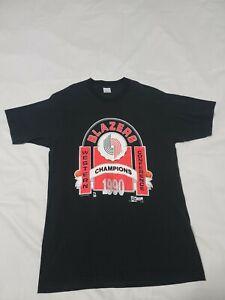 Vtg 90's Portland Blazers Western Champions NBA Single Stitch T-Shirt Mens L