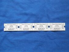 Vintage Lloyd Theater Adult Tickets (Strip of 4) Drive-In Movie Theatre/Cinema