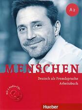 Hueber MENSCHEN A2 Deutsch als Fremdsprache ARBEITSBUCH mit 2 Audio CDs @New@