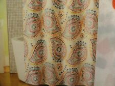 new Colorful BOLD PAISLEY blues orange gold purples gray Fabric SHOWER CURTAIN