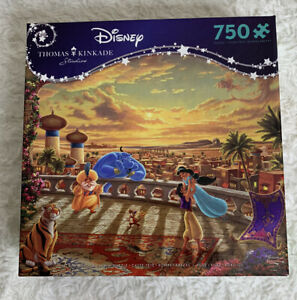 Disney Thomas Kinkade Puzzle Jasmine Aladdin Dancing in the Desert Sunset NEW